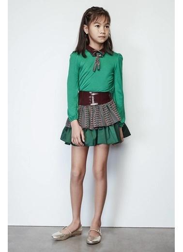 Lia Lea Kız Çocuk Yeşil Bluz Yeşil